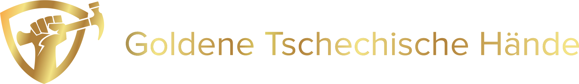 Goldene Tschechische Hände
